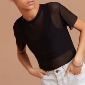 Wilfred Free Black Mesh Top